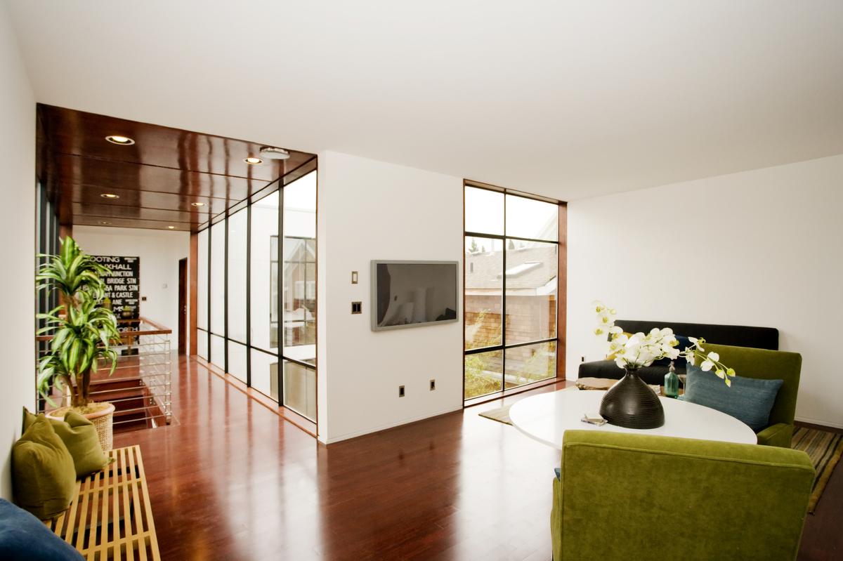 Décoration intérieure en vert