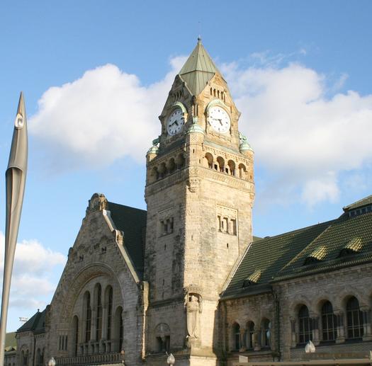 Vue de la gare de Metz