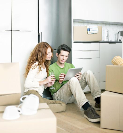 Couple qui déménage