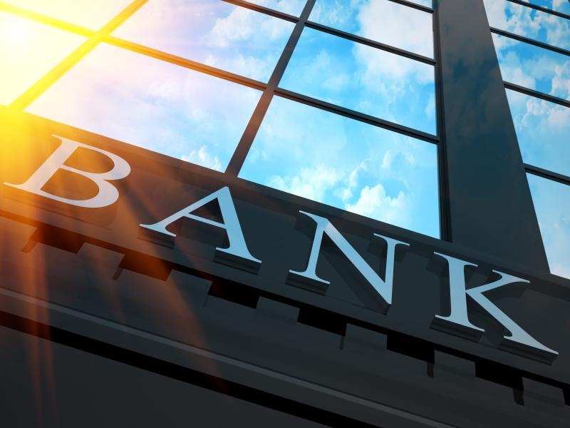 Façade d'agence bancaire