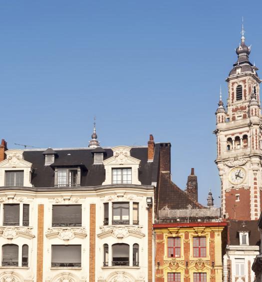 Vue de Lille, beffroi