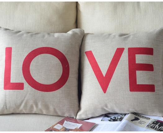 Coussin avec inscription st valentin