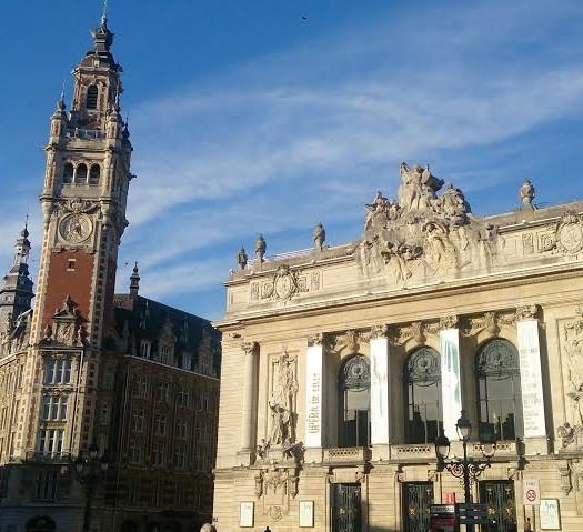 Vue de la grand place de Lille, Nord
