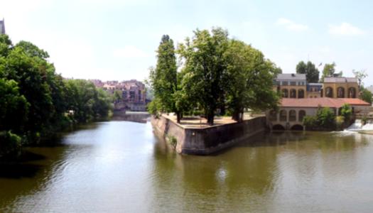 Metz vue de la Moselle