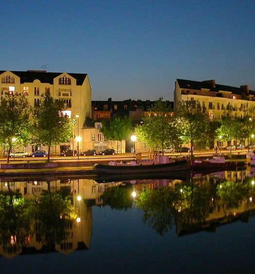 vue de nuit de Nantes