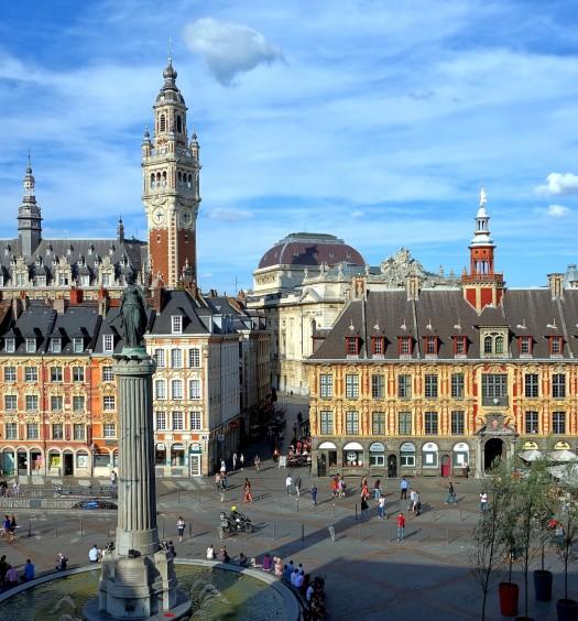 Vue sur la grand place Lille