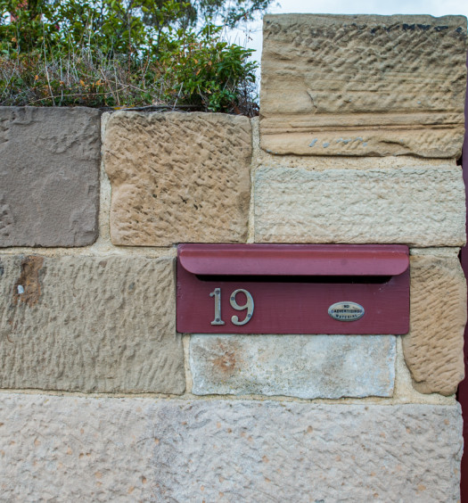 Muret avec boite au lettre