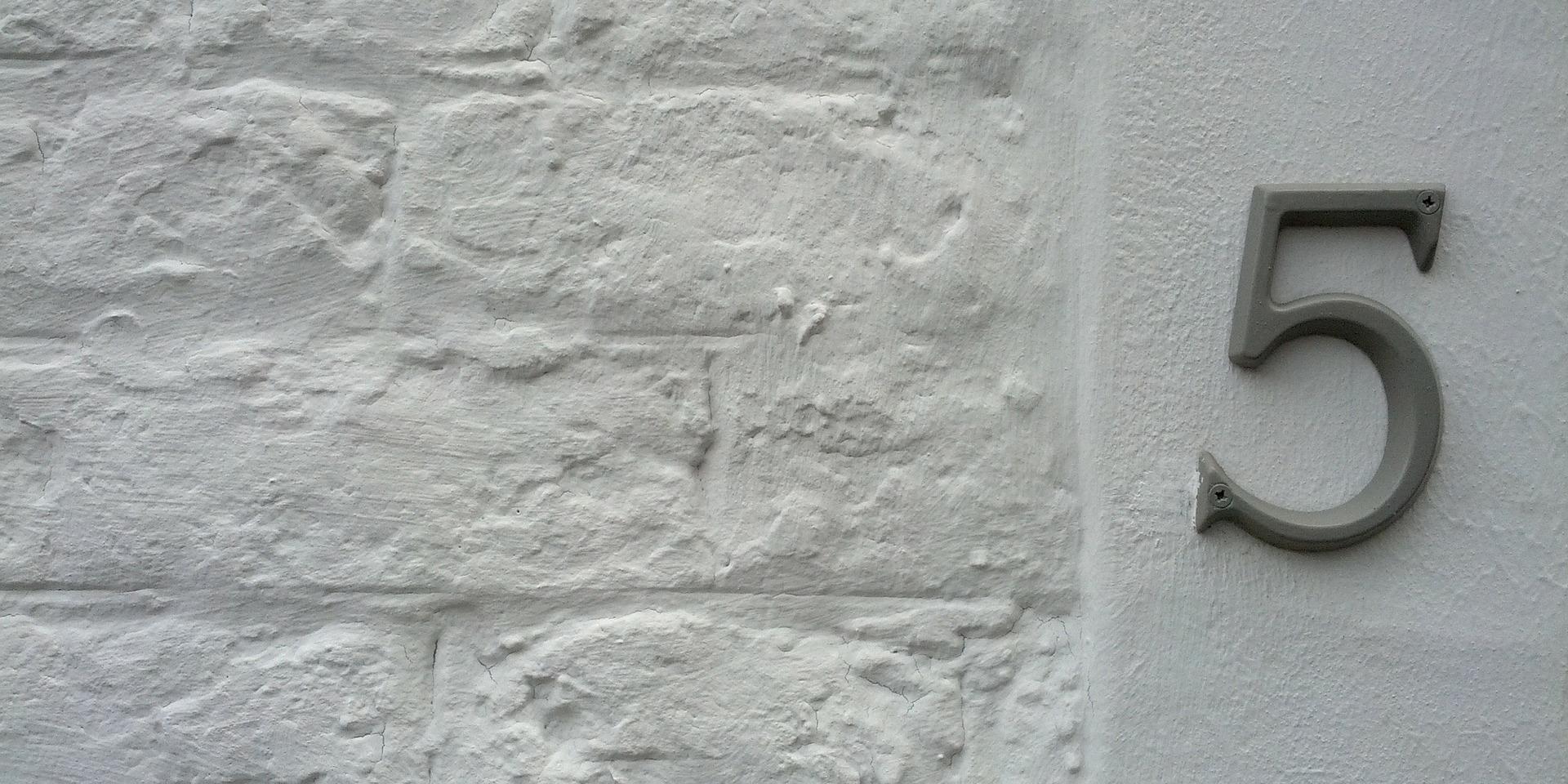 facade de maison avec numero
