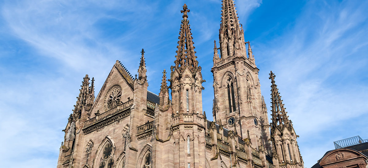 Temple Saint-Etienne de Mulhouse. Alsace, France