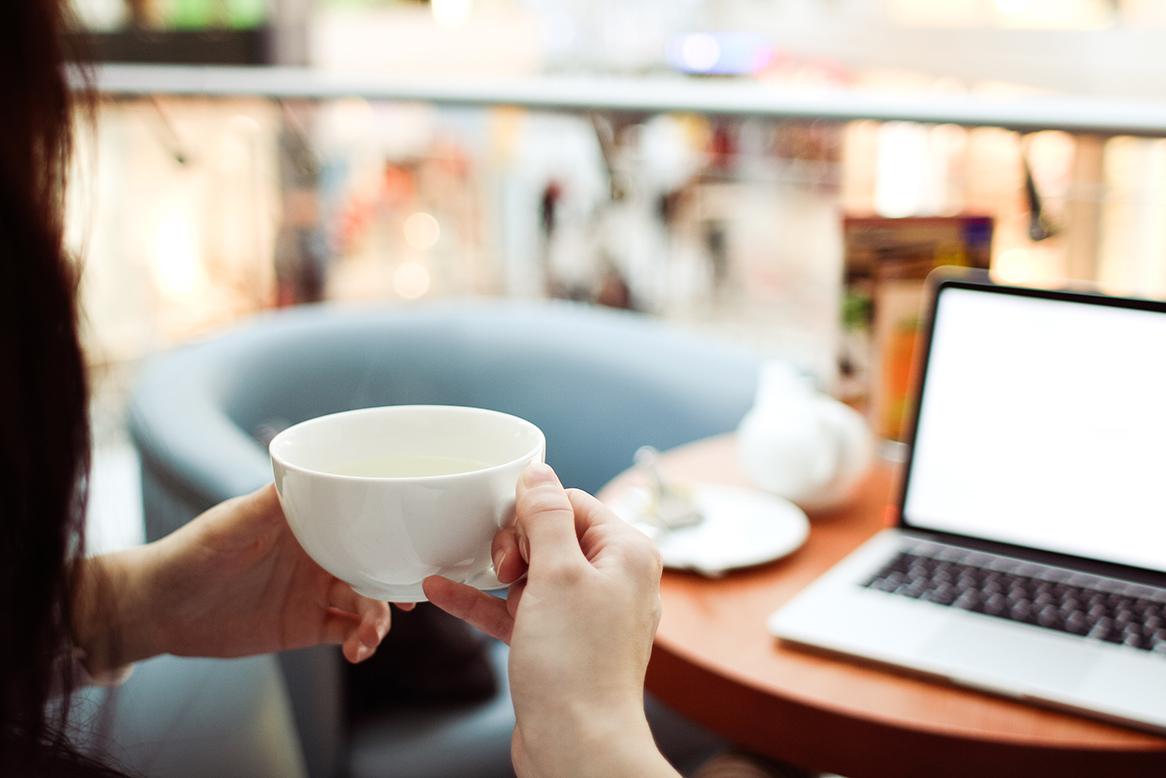 Pause café et internet