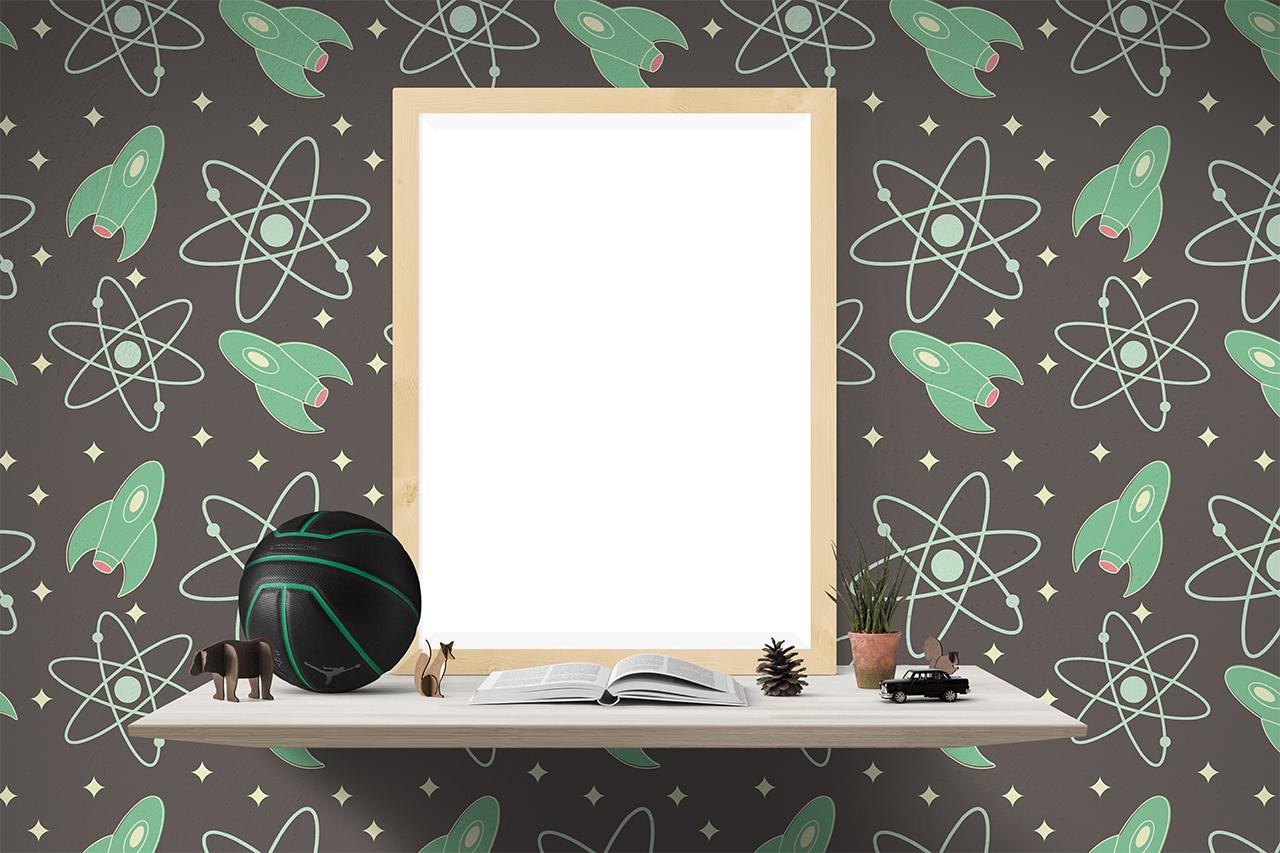 je d core avec du papier peint. Black Bedroom Furniture Sets. Home Design Ideas
